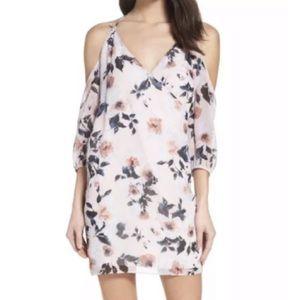 ALI & JAY Pink Floral NWT Cold Shoulder Dress Sz S